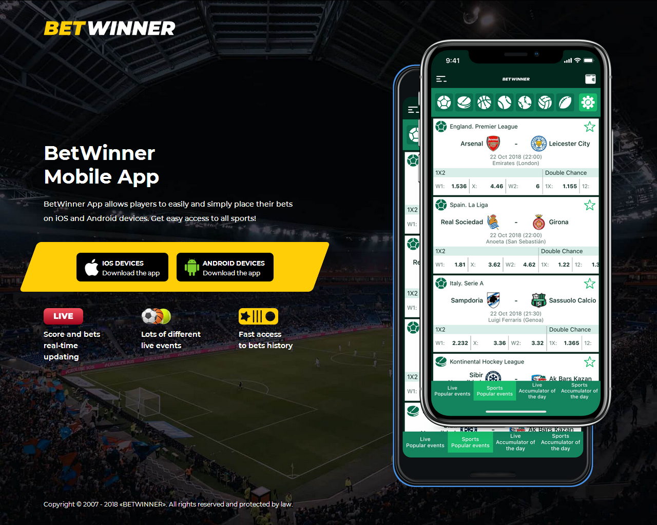 Betwinner Mobile APP - Download and install it!